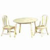 Crackled Rose Table and Set of 2 Chairs