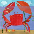 Crawling Crabby Critter Canvas Wall Art