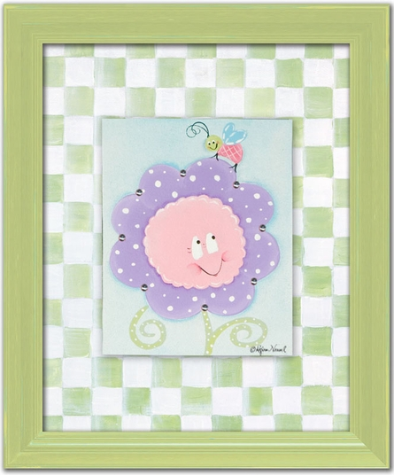 Crazy Daisy Personalized Canvas Reproduction