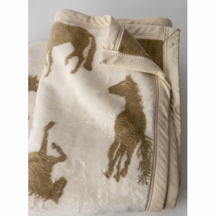 Crazy Horse Throw Blanket