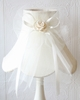 Cream Dupioni Silk Lamp Shade with Tulle Bow