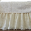 Cream Tucked Bed Skirt