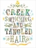 Creek Swimming and Tangled Hair Canvas Wall Art
