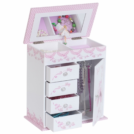 Cristiana Wooden Musical Ballerina Jewelry Box