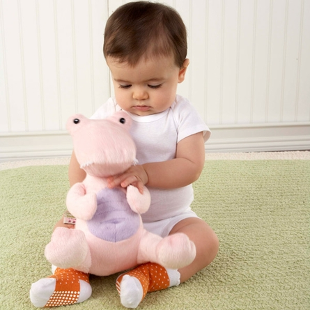 Croc in Socks Plush Toy and Baby Socks Gift Set in Pink