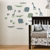 Croc & Jungle Animals Wall Decal
