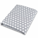 Cross Crib Sheet in Gray