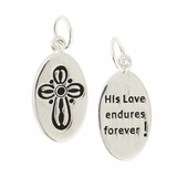 Cross - His Love Endures Forever Charm CN206 $(+14.00)