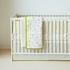Cross Stitch Crib Bumper in Fern
