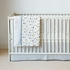 Cross Stitch Crib Bumper in Grey