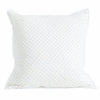 Cross Stitch Quilted Decorative Pillow Cover in Fern