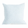 Cross Stitch Quilted Decorative Pillow Cover in Ocean