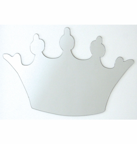 Crown Peel & Stick Wall Mirror Applique