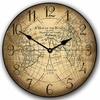 Cruso Vintage World Map Kids Wall Clock
