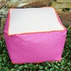 Cubed Pouf in Hot Pink