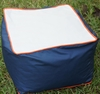 Cubed Pouf in Navy