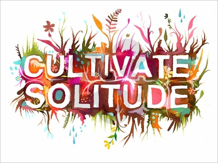 Cultivate Solitude Canvas Wall Art