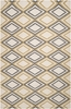 Cumin and Pewter Diamond Frontier Rug