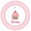 Cupcake Personalized Melamine Plate