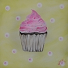 Cupcake & Sprinkles Stretched Canvas Art