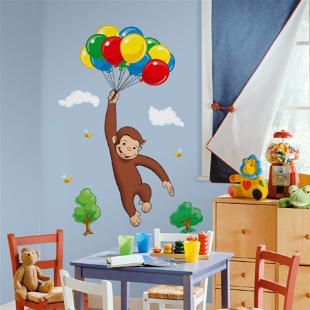 Curious George Giant Peel Stick Wall Mural