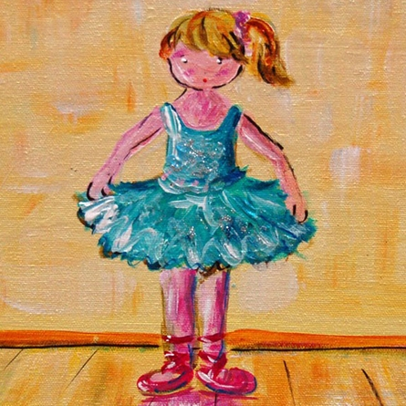 Curtain Call Ballerina Hand Painted Canvas