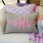 Custom Applique Monogram Boudior Pillow Sham