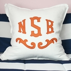Custom Applique Monogram Euro Sham