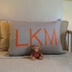 Custom Applique Monogram Standard Pillow Sham