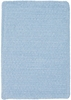 Custom Creations Braided Rug in Light Blue