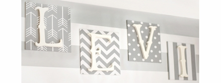 Custom Fabric Love Wall Letters - Boy