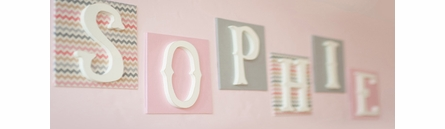 Custom Fabric Love Wall Letters - Girl