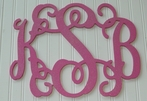 Custom Hand Painted Glitter Vine Wall Monogram