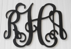 Custom Hand Painted Vine Wall Monogram