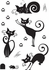 Cute Cats Wall Decals