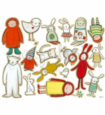 Cute Critters Peel & Place Wall Stickers