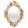 Cute Little Owls Baroque Mirror