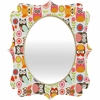 Cute Little Owls Quatrefoil Mirror