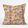 Cute Little Owls Throw Pillow