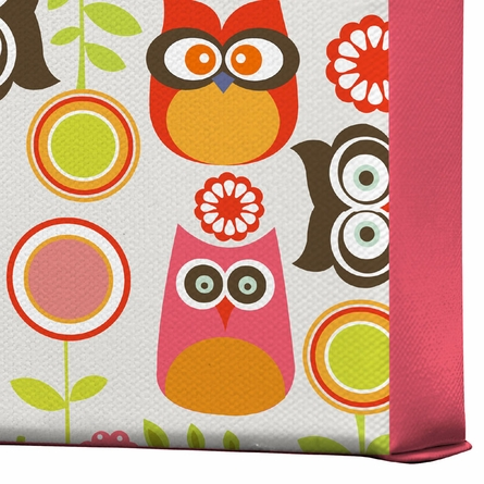 Cute Little Owls Wrapped Canvas Art