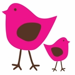 Cutie Birds Set of 2 Wall Decal
