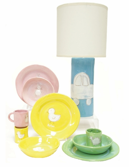 Cylinder Lamp in Green Dinosaur Character