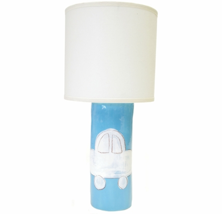 Cylinder Lamp in Pink Bunny Silhouette