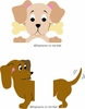 Dachshund & Peeking Pooch Paint by Number Wall Mural