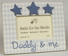 Daddy and Me Picture Frame with Stars