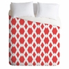 Daffy Lattice Coral Luxe Duvet Cover