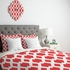Daffy Lattice Coral Lightweight Duvet Cover