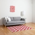 Daffy Lattice Coral Flat Weave Rug
