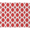 Daffy Lattice Coral Fleece Throw Blanket