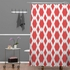 On Sale Daffy Lattice Coral Shower Curtain